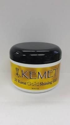 2Pcs  Kemet 20 Karat Gold Shining Gel 8Oz