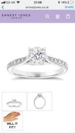 9ct White Gold 1/4ct Diamond Ring