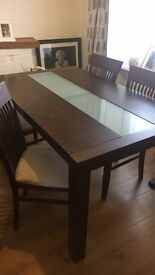 Solid table 4 chairs