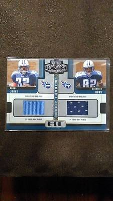 PACMAN ADAM JONES COURTNEY ROBY 2005 PLAYOFF HONORS ROOKIE PRIME DUAL JERSEY RC!
