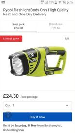 Ryobi torch & fast charger NO BATTERY