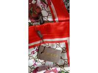 Gucci Scarf GG Blooms Print Silk Ladies BNWT