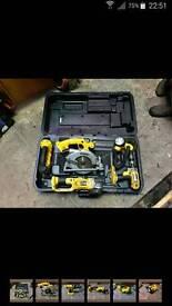 dewalt 5 piece combo kit curcular saw