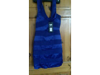 Ax paris blue bodycon dress size 8 new with tags