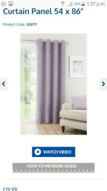 Textured chenille single curtain Mauve