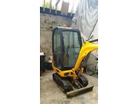 mini digger for hire with driver 1.5 tonne