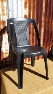 Black  chairs for HIRE $1-25 each for 48hrs