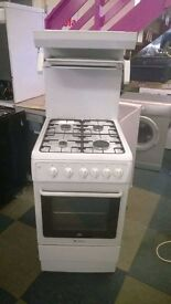 white hotpoint 50cm eyelevel grill gas cooker