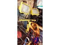 Twin halogen work lights / stand