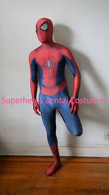 The Amazing Spiderman Costume TASM2 Zentai Cosplay Spider Suit For Adult/Kids - Spider Man 2 Costume For Kids