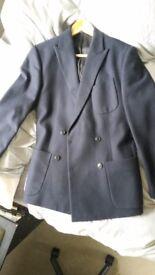 Reiss Mens Jacket - Navy Blue, Slim Cut, 70% Wool - Size M - New!