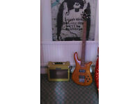 Bass Guitar and 15Watt Bass Amp
