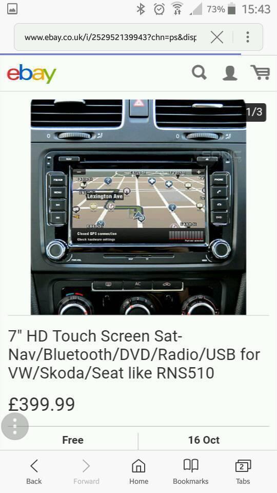 Vw skoda seat cd/usb/bluetooth/satnav/dvd