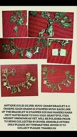 Antique bracelet with 11 charms