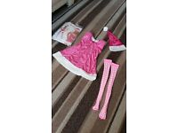 PINK LADIES SANTA OUTFIT NEW