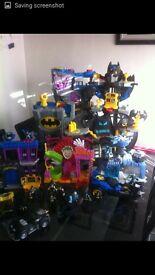 Batman imaginext bundle, excellent condition, includes vehicles, figures, amd batcaves, xmas presnt