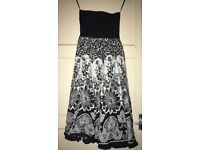 Black + White Floral Dress