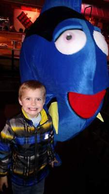 Dory fish Mascot Costume Mascot Adult Size used once for birthday party