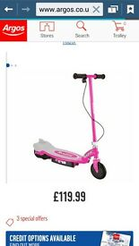 Razor E 90 Girls Pink Electric Scooter
