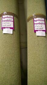 2x brand new rolls of wool carpet (roll 12-13)