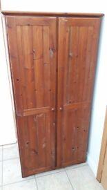 Pine Wardrobe 90cm W x 54cm D x 184cm H