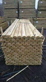 wood timber half rails