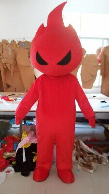 Flame Mascot Costume Cosplay Party Game Dress Outfit Advertising Halloween - Halloween Flames Game