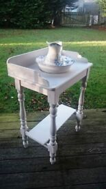 Vintage Washstand with Wash Jug and Bowl