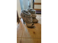 open toe shoes/boots size 5