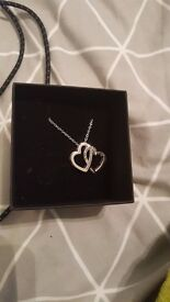 Silver Granddaughter Chain with Box