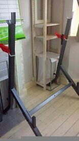Squat / chest press weights rack stand