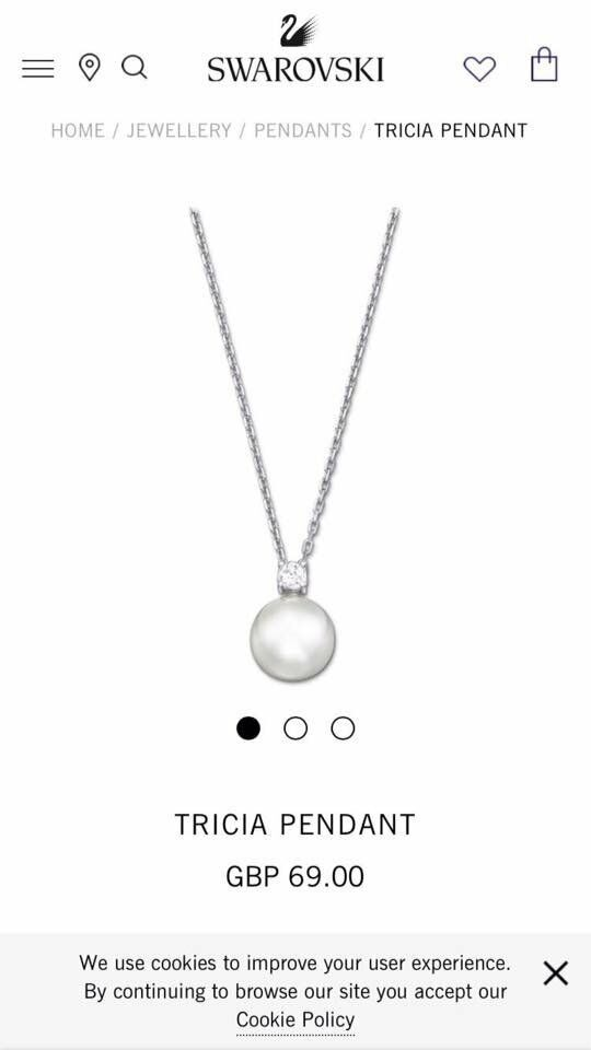 BRAND NEW IN BOX Swarovski Tricia Pearl Pendant Necklace RRP £69