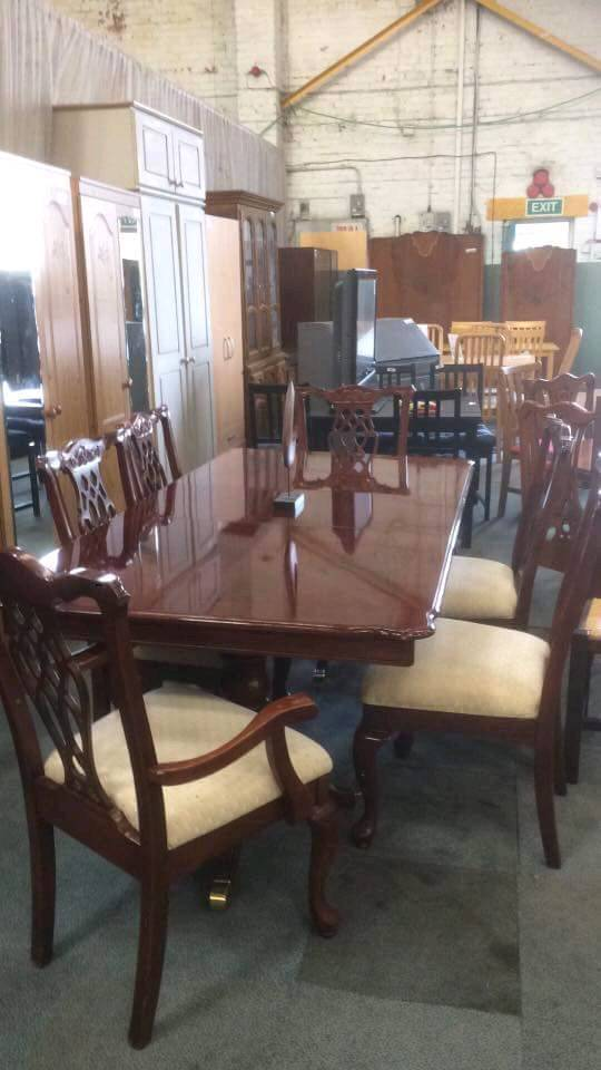Rosewood Table & Six Chairs - £150