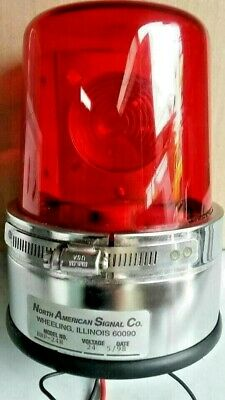 North American Signal Amber Emergency Beacon Strobe 24v Model Bbp-24r Light Used