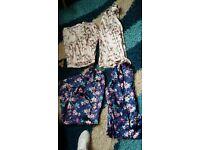 2 X women' silk pyjamas both worn once !