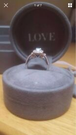 Vera Wang White and Rose Gold Engagement Ring