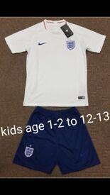 Kids England shirt and shorts
