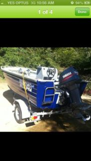 4.35 50 hp boat and trailer Brassall Ipswich City Preview