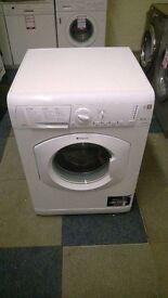 white hotpoint 8kg 1500 spin washing machine