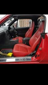 mk1 mk2 mx5 interior red leather jdm