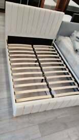 double king size plush velvet lucy bed frame order us now