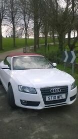 AUDI A5 CONVERTIBLE 2010 SPECIAL EDITION 2.0 TDI 170 BHP IBIS WHITE RED ROOF