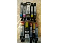 Canon printer ink 570/571 new and opened (x10 inks)- include genuine cartridges