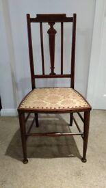 Pretty Antique Victorian / Edwardian Inlaid Chair.
