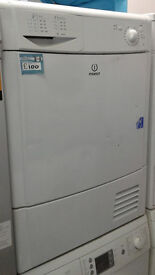 b098 white indesit 7kg condenser dryer comes with warranty can be delivered or collected