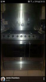 belling silver range cooker