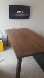 Large Dining table 6ftx3.4 Walnut Effect - Lovely Table