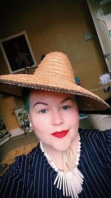 Vintage 40s Straw Hat