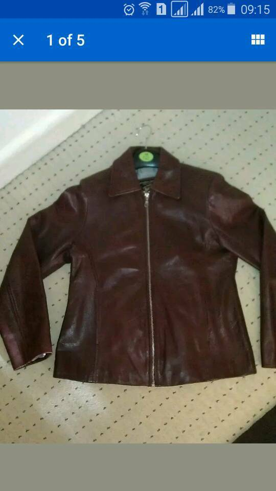 Ladies real leather jacket Small