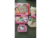 Hello Kitty bundle-beads,backpack,lunch bag,magazine maker,mug,soft toy